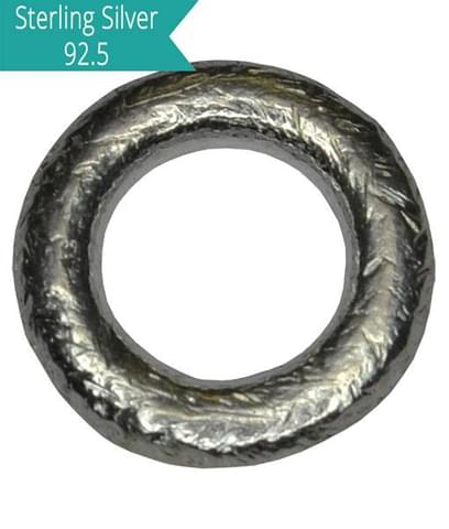 Sterling Silver Brushed Closed Rings 8mm, Pack of 5 Pcs.