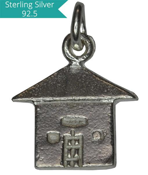 925 Silver House Charm, Pack of 5 Pcs.