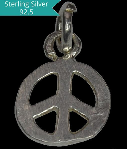 Sterling Silver Peace Charm, Pack of 5 Pcs.