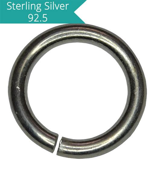 925 Silver 8mm Open Jump Ring