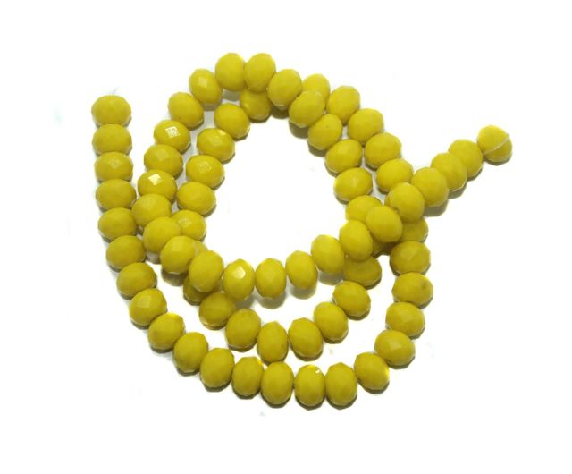 1 Strings Crystal Faceted Rondelle Beads Yellow 8x6 mm