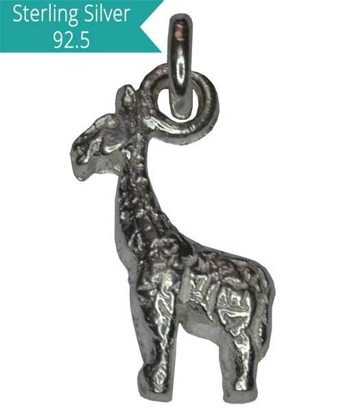 Sterling Silver Giraffe Charm, Pack of 5 Pcs.