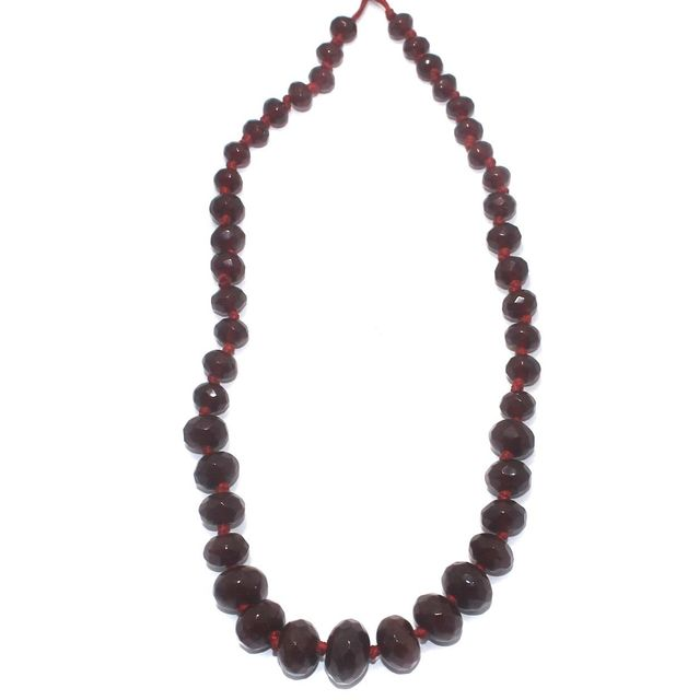 40+ Faceted Glass Rondelle Beads Dark Red 8-17mm