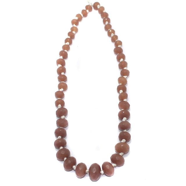 40+ Faceted Glass Rondelle Beads Peach 8-17mm