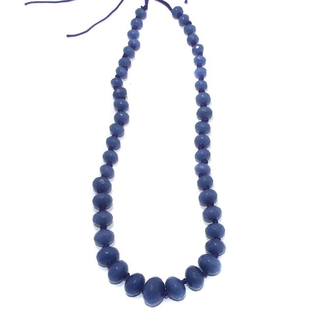 40+ Faceted Glass Rondelle Beads Royal Blue 8-17mm