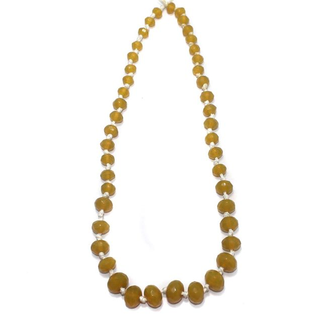 40+ Faceted Glass Rondelle Beads Trans Yellow 8-17mm