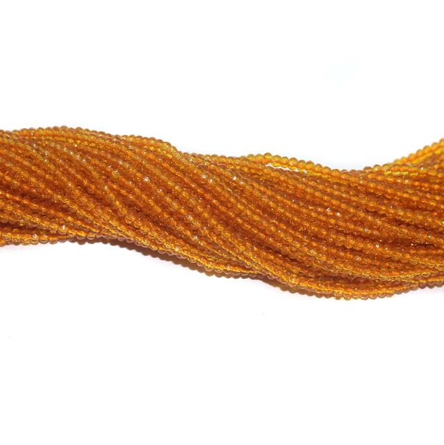 140+ Crystal Faceted Rondelle Beads Trans Orange 2 mm