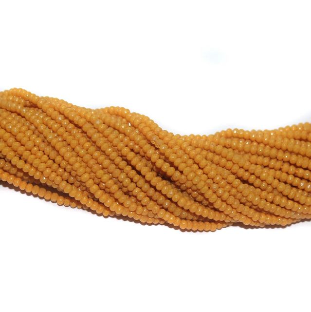 140+ Crystal Faceted Rondelle Beads Opaque Orange 2 mm