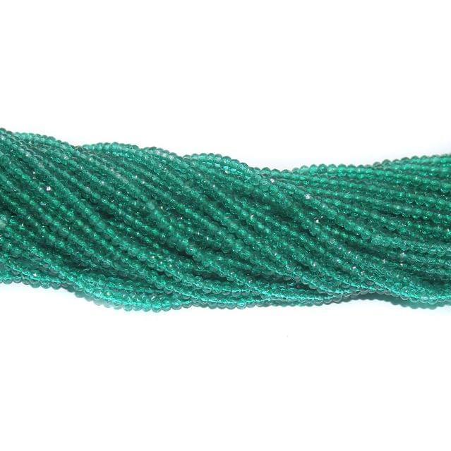 140+ Crystal Faceted Rondelle Beads Trans Teal 2 mm