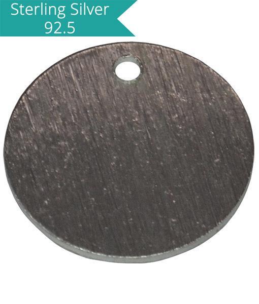 12mm Brushed Round Charm