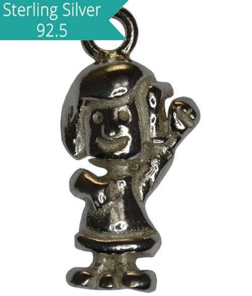 Sterling Silver Girl Charm, Pack of 2 Pcs.