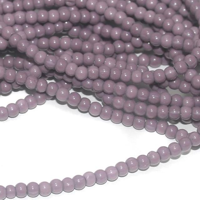 Violet Glass round beads 4mm 12 Strings
