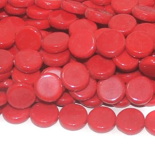 Red disc glass beads 9x3mm 12 Strings