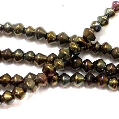 5 Strings Glass RONDELLE Beads GD 4 mm