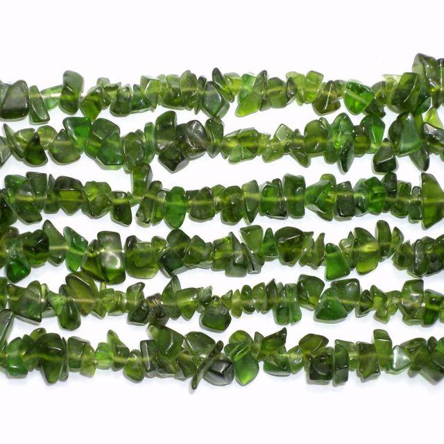 110+ Glass Uncut Beads Peridot 5-8 mm