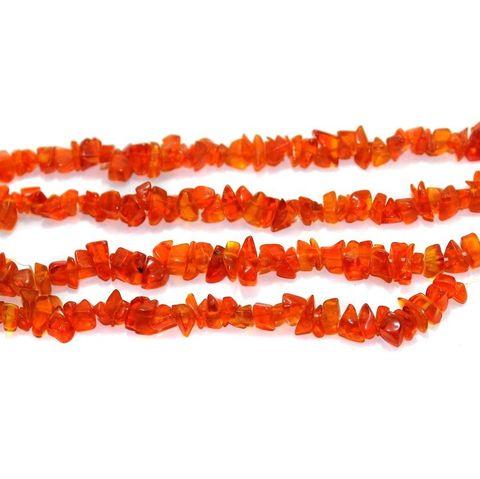 110+ Glass Chips Light Red 5-8 mm