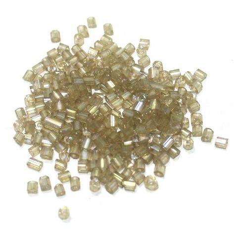 Seed Bugles Beads Mehndi Rainbow (100 Gm), Size 11/0
