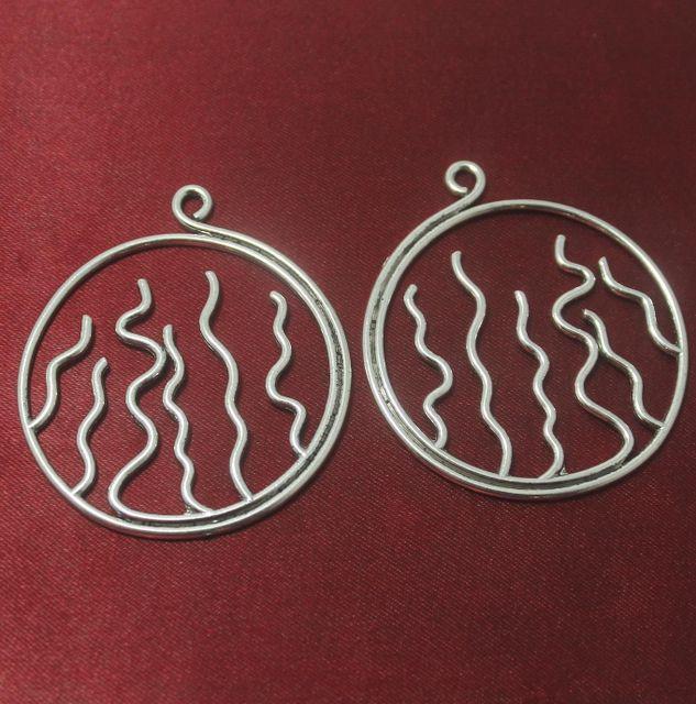 2 Pcs. German Silver Pendants 53 mm