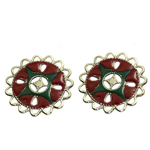 1 Pair Earring Component Silver 36mm