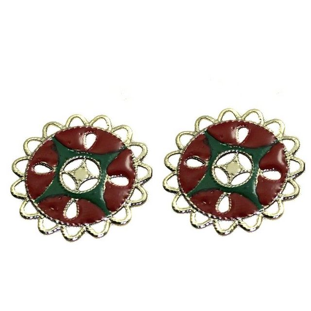 7 Pair Earring Component Silver 36mm