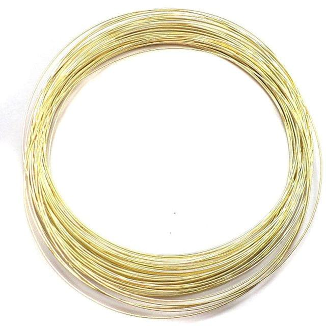 50 Row Golden Memory Wire For Chokers / Necklace [22 Gauge]