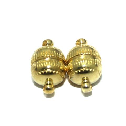 Magnetic Clasps, Size 17.5x10mm, Pack of 10 Pcs