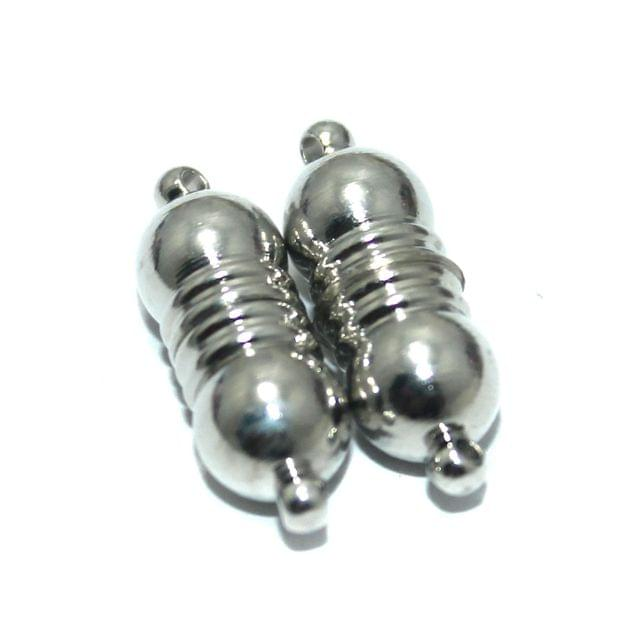 Magnetic Clasps, Size 23x8mm, Pack of 10 Pcs