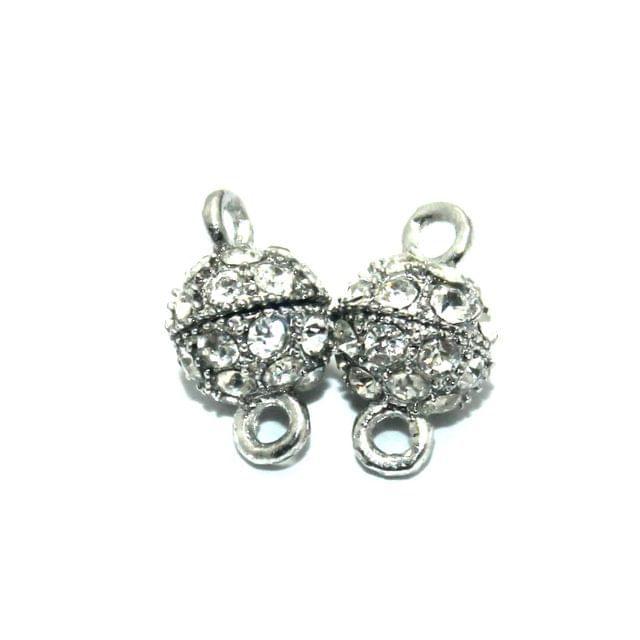 Magnetic Clasps, Size 14.5x8.5mm, Pack of 20 Pcs
