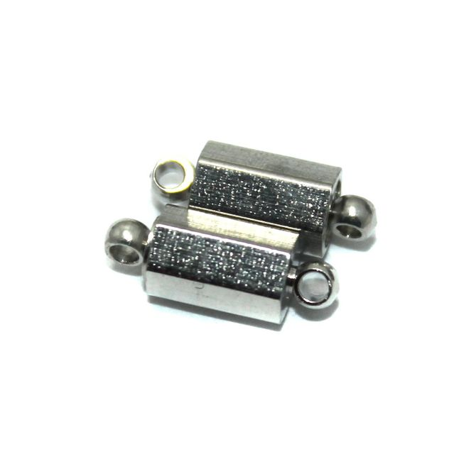 Magnetic Clasps, Size 14.5x5.5mm, Pack of 20 Pcs