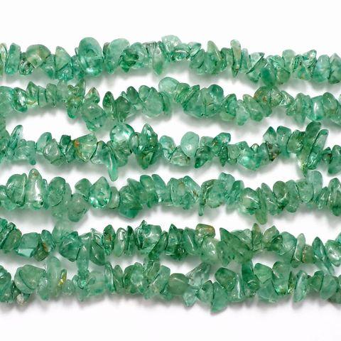 250+ Stone Uncut Beads Chrysoprase 5-8mm