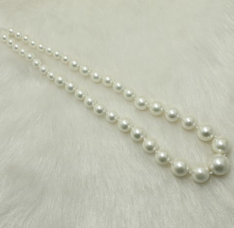 Shell Pearl Beads 1 String 8-16mm White