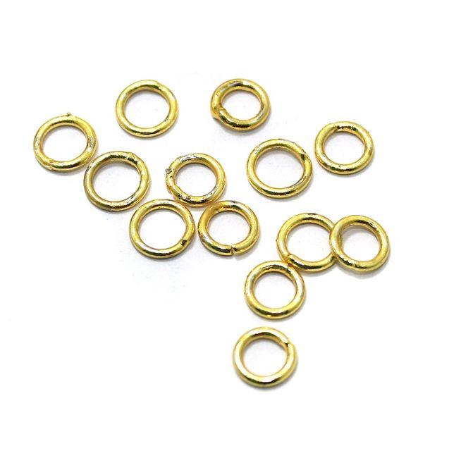 German Silver Golden Jump Rings 200 Pcs 7mm