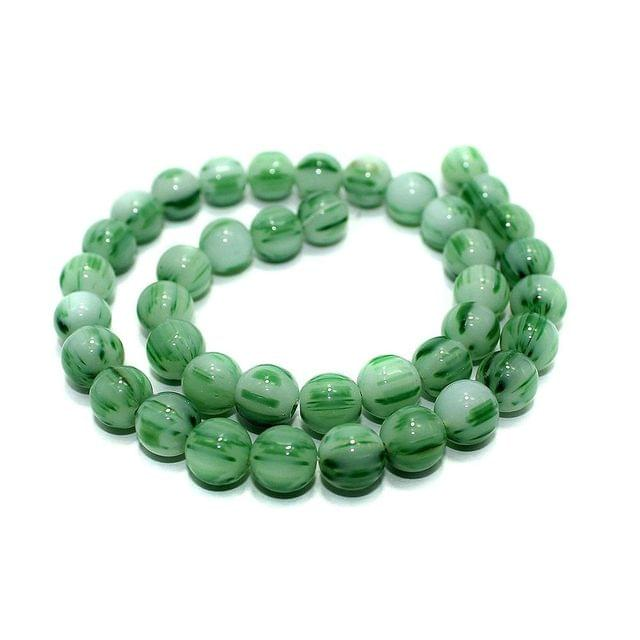 5 strings of Glass Round Beads Twin Color 10mm