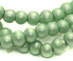 5 strings Disco Beads Round Peridot 4mm