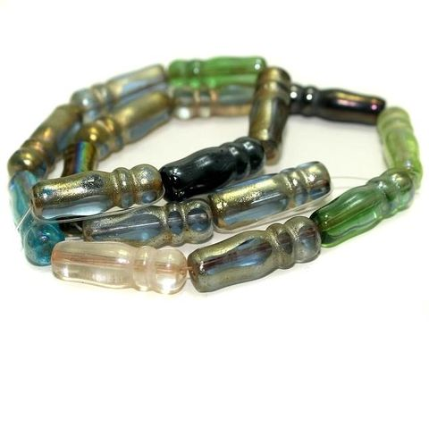 5 strings Glass Beads Imam Assorted Color 8x24mm