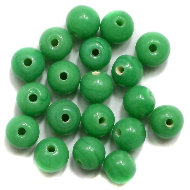 380+ Glass Round Beads Green 6mm