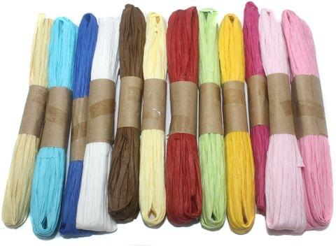 12 Colors Paper Raffia Plain Combo