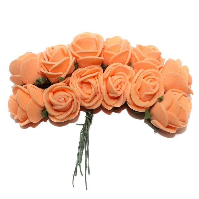 12 Craft Flower Peach 18x14mm