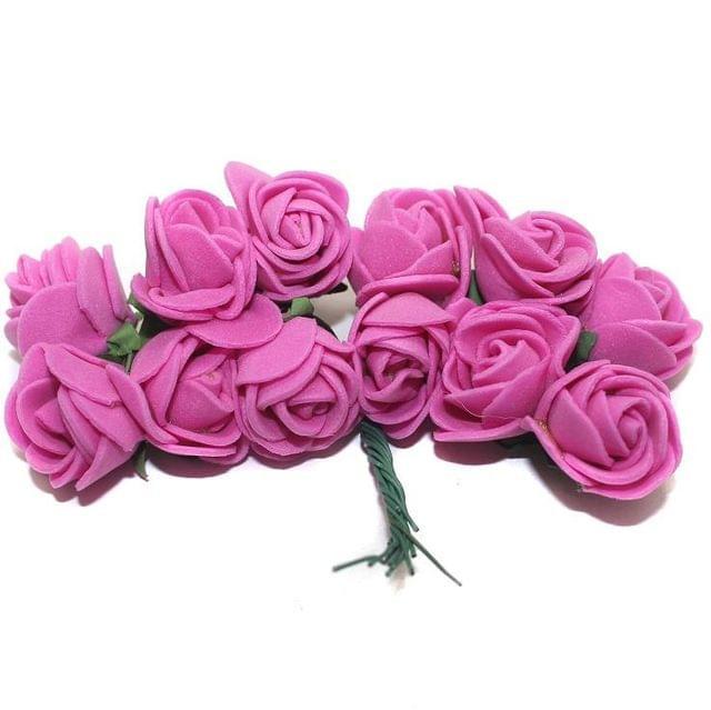 12 Craft Flower Hot Pink 18x14mm