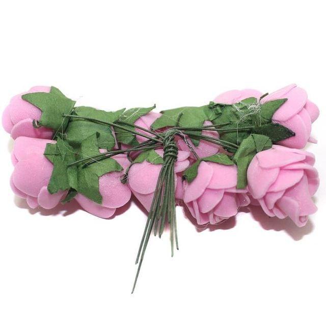 12 Craft Flower Pink 18x14mm