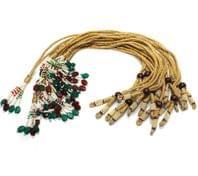12 Pcs Zari Necklace Dori multi color 12 inch
