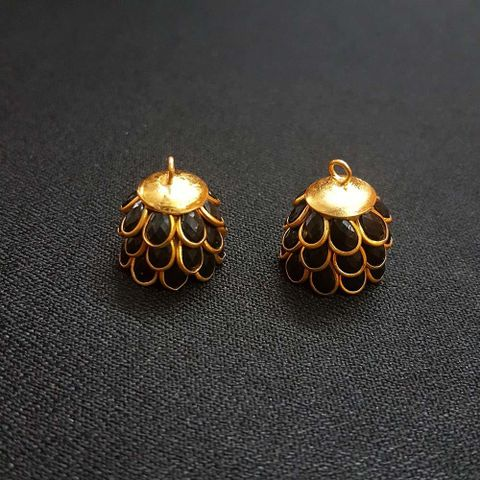 Black, Pacchi Jhumka 16mm, 2 Pair