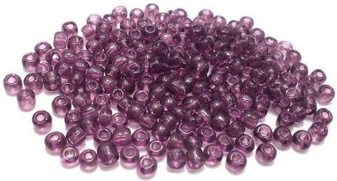 100 GmSeed Beads Purple Trans 11/0 Size