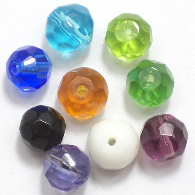 50 Faceted Round Beads Assorted 8mm