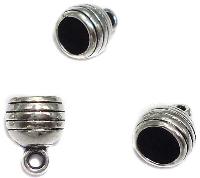 70 German Silver Cap Bell Beads 6x8mm