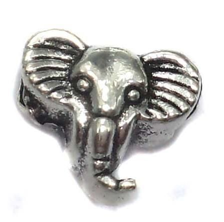 20 German Silver Elephant Beads 9x11mm