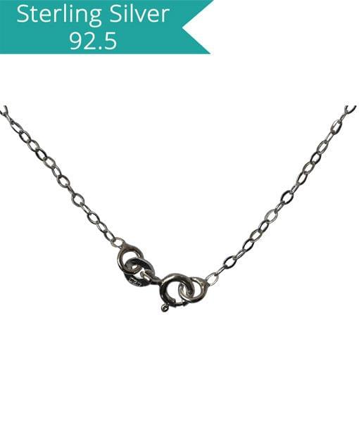 925 Silver Flat Link Chain-40 Cms, Pack of 2 Pcs.