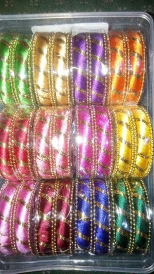 Silkthread Bangles Set of 24Bangles - 12 Sets of 12 Different Colors