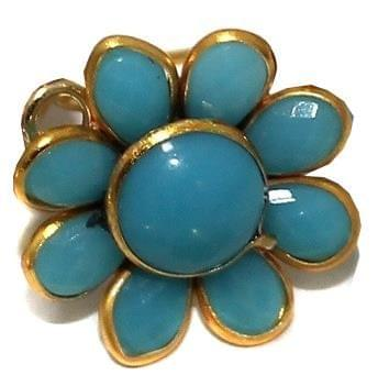 10 PAIRS PACCHI EARRING Turquoise14X14 MM