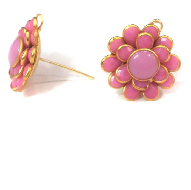 Double Layer PACCHI EARRING PINK 20X20 mm
